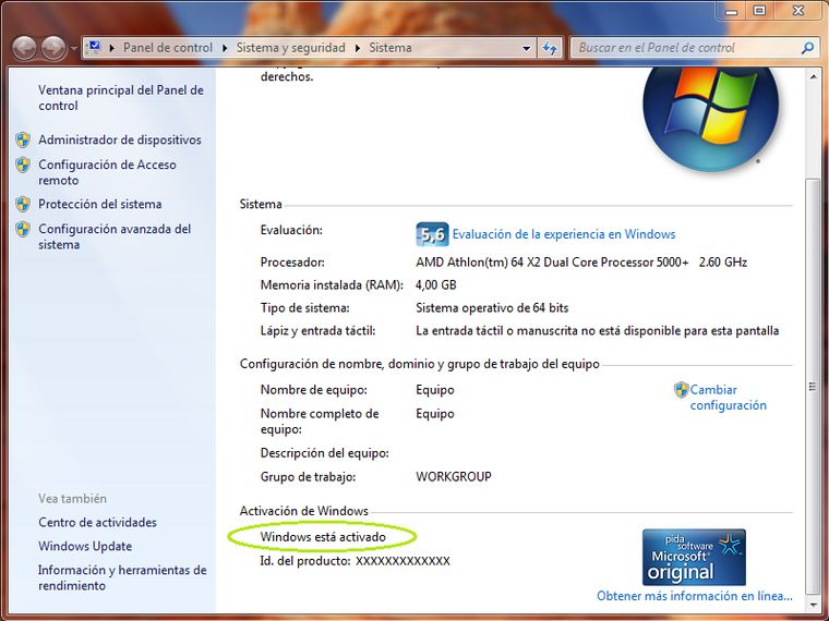 Activar windows 7 32 y 64 bits