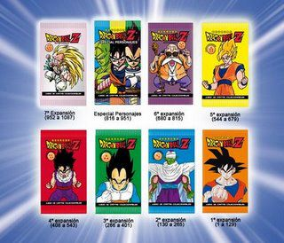 Unboxing de un paquete de cartas de Dragon Ball super