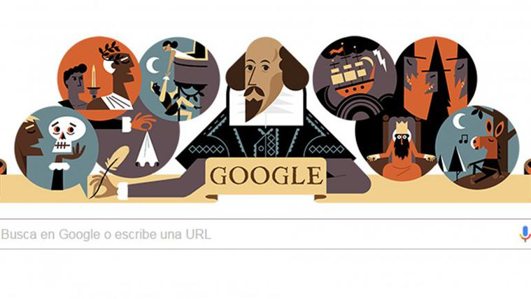 [Info] El homenaje de Google a William Shakespeare a 400