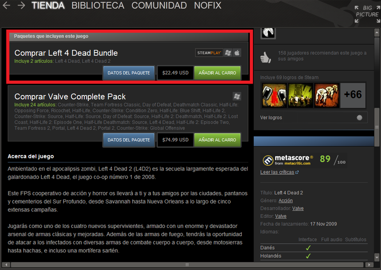 Vendo] Left 4 dead Bundle [Busco] Paypal - sT!eam Trade™ [Comunidad