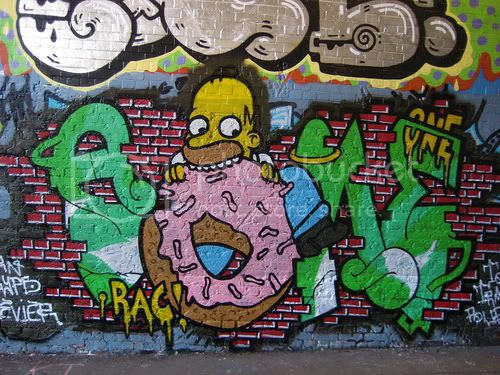 los simpson en graffiti