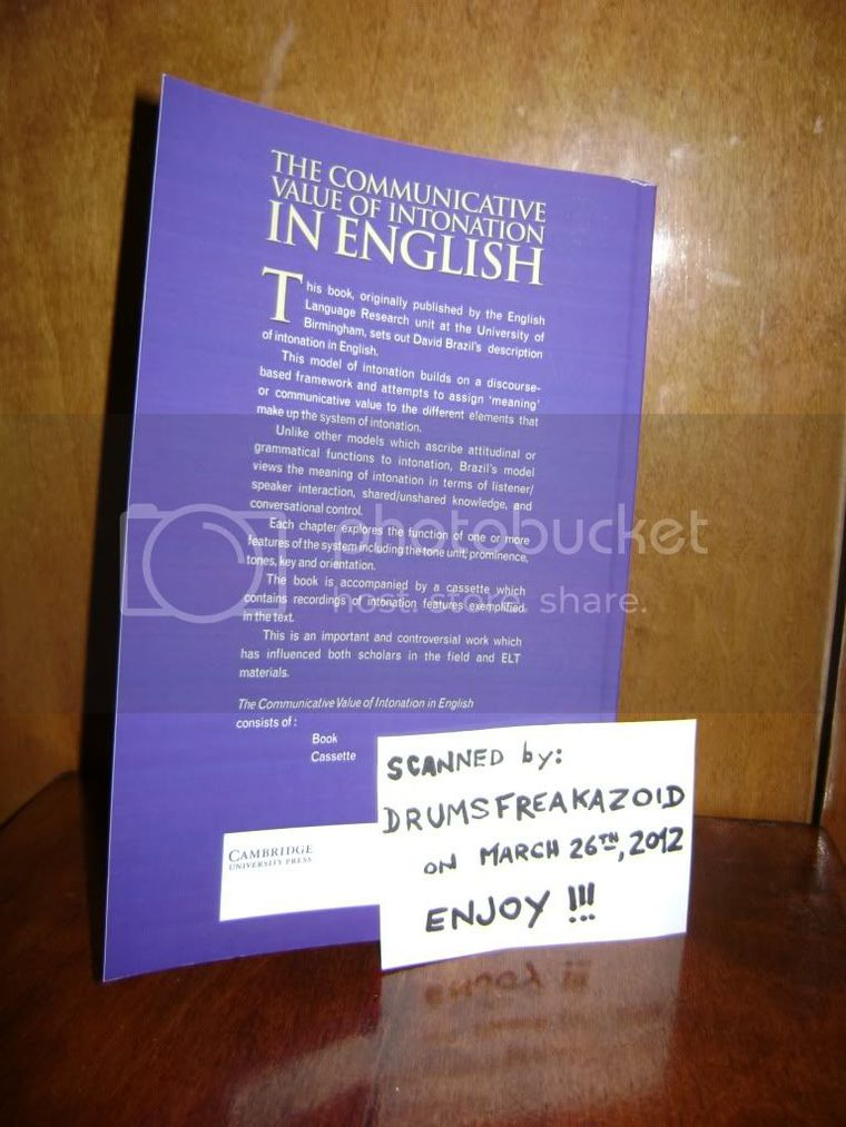 The communicative value of intonation in English PDF