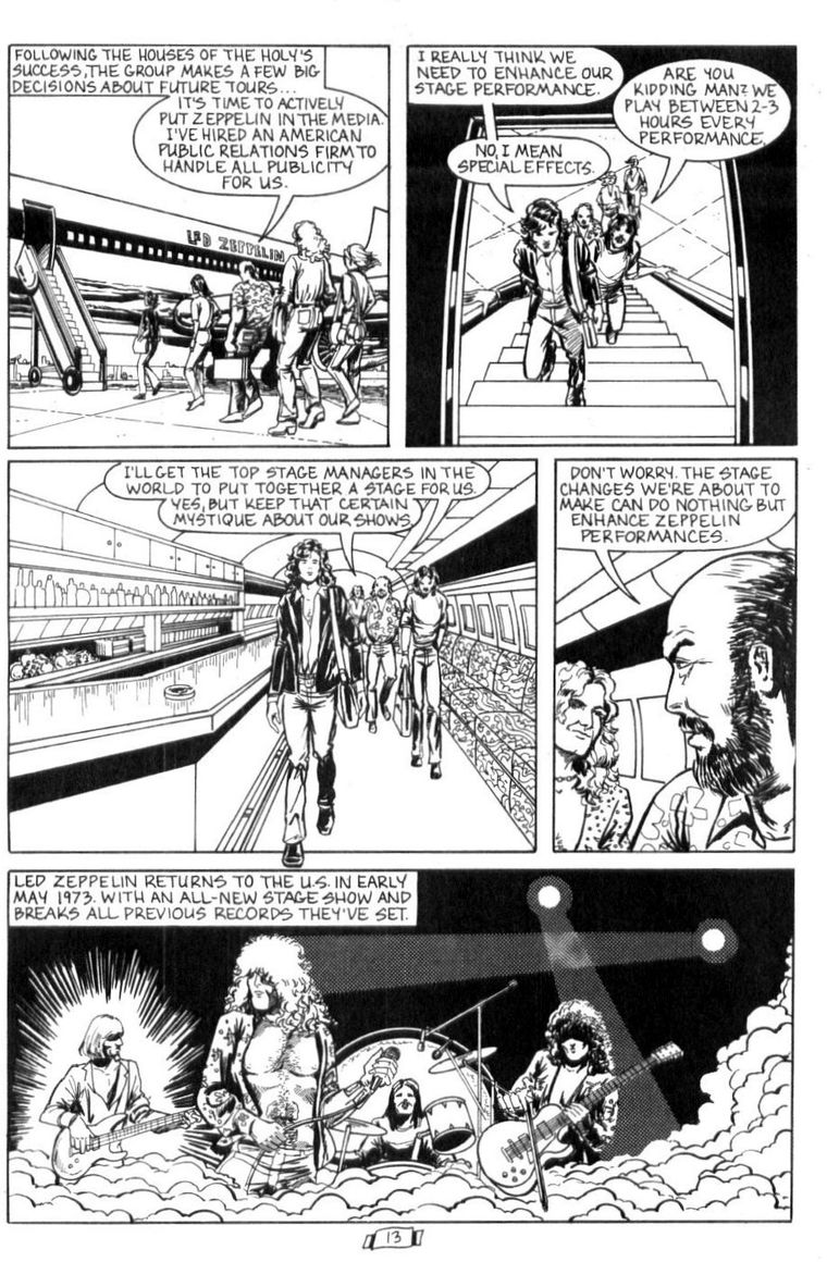 Led Zeppelin - Rock And Roll Comic