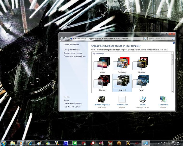 2 Temas para Windows 7 de Slipknot