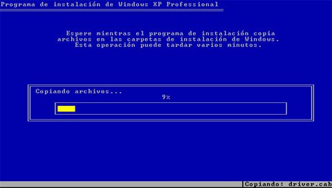 Instalacion de Windows XP Professional (Service pack 3)