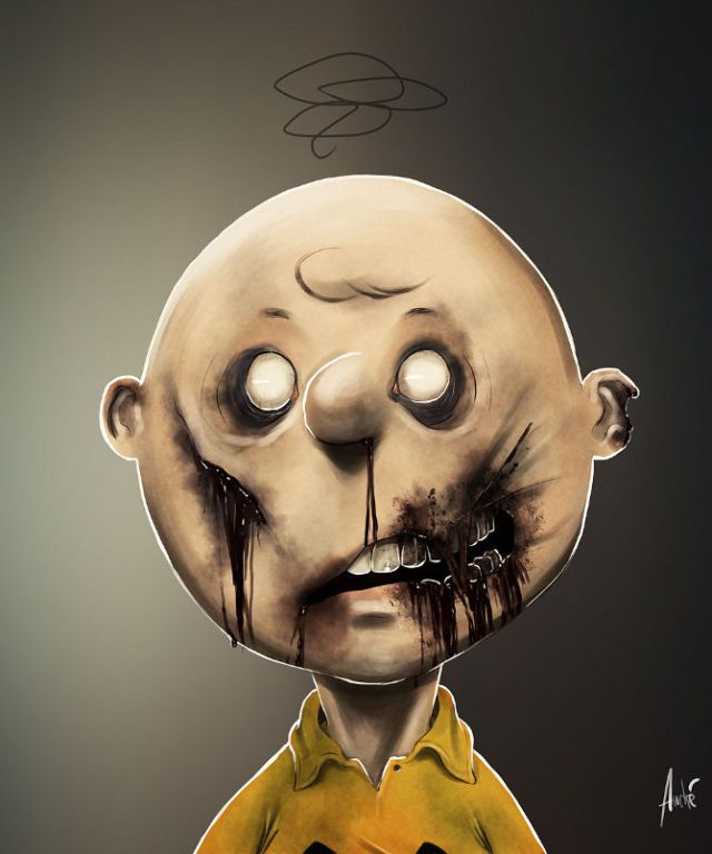Imagenes | Caricaturas Famosas hechas Zombies
