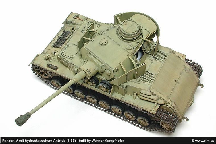 Tanque Panzer IV with hydrostatic drive (Maqueta en 1:35)