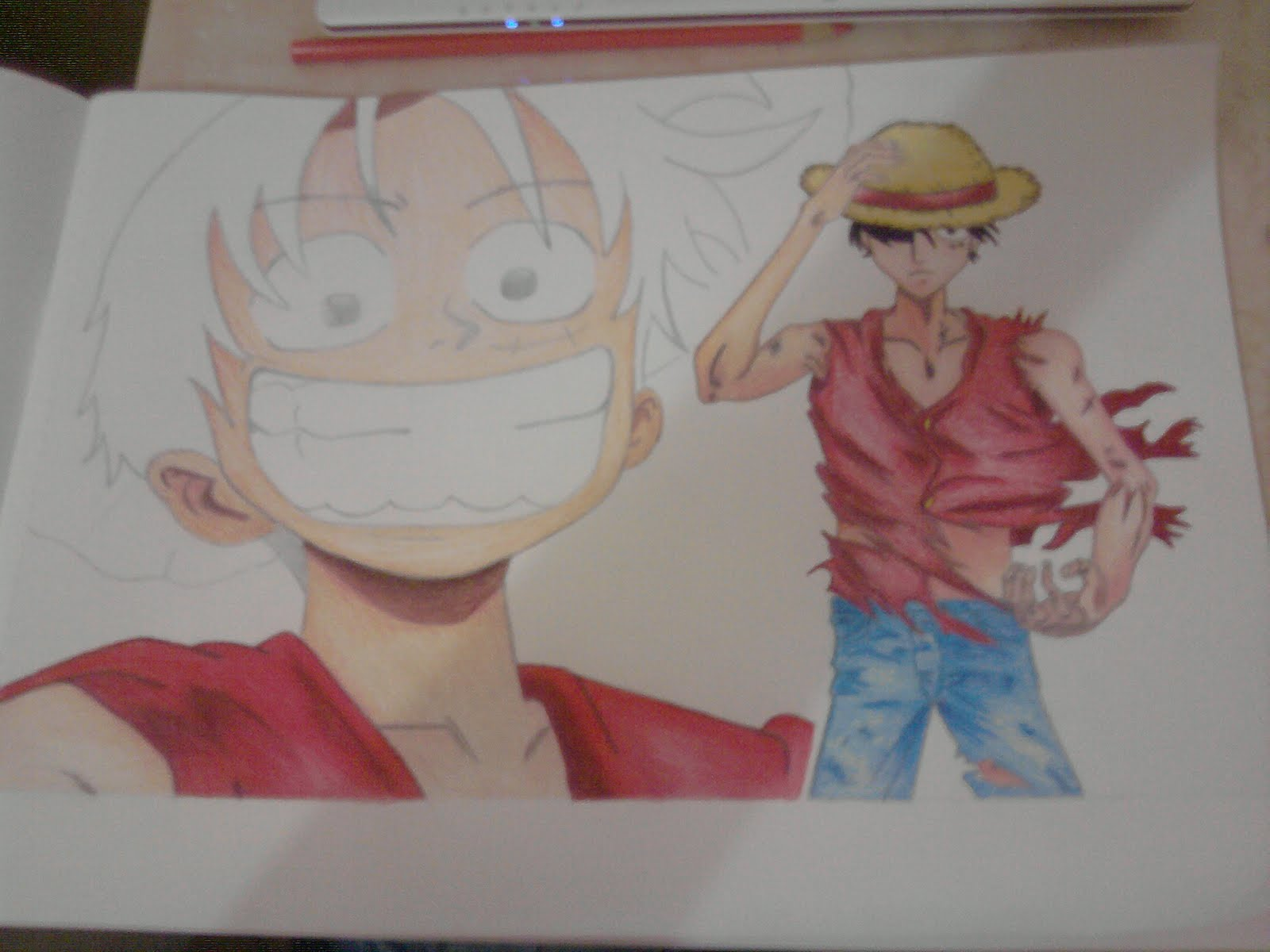Mi dubujo de luffy one piece arte taringa for One piece dibujos