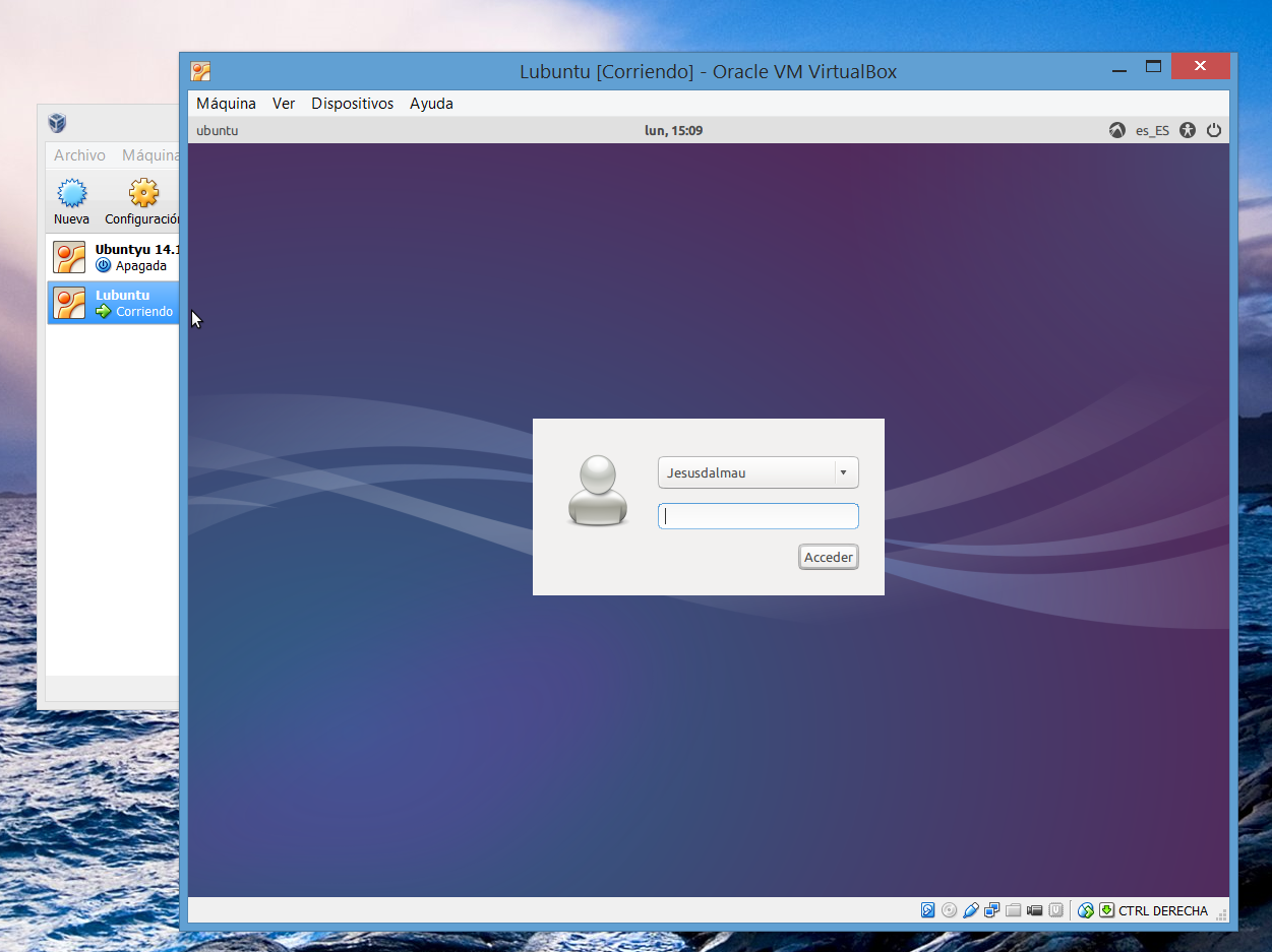 Linux en Windows 8.1 con Virtualbox (JD)