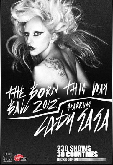 Rumores acerca de El Tour: Born This Way Ball
