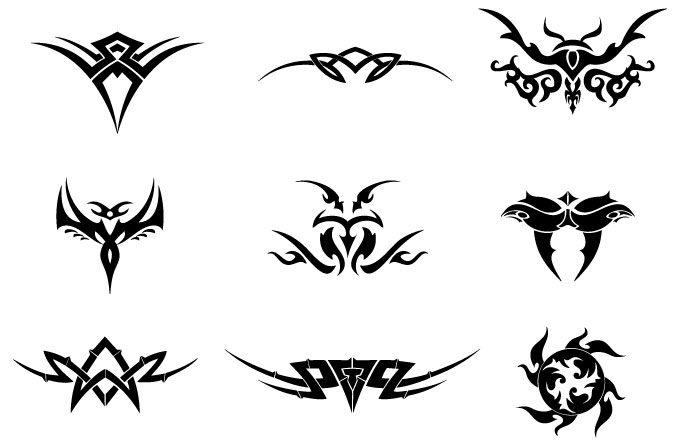 Letras Tribales. Tribal Arrow Clipart Hand Drawn Line Art U ...
