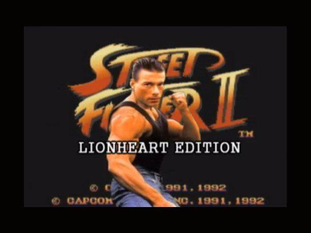 Van Damme in Street Fighter 2: Lionheart Edition