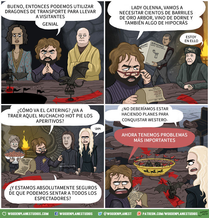 7 cómics que resumen de forma divertida T7 de Game Of Throne
