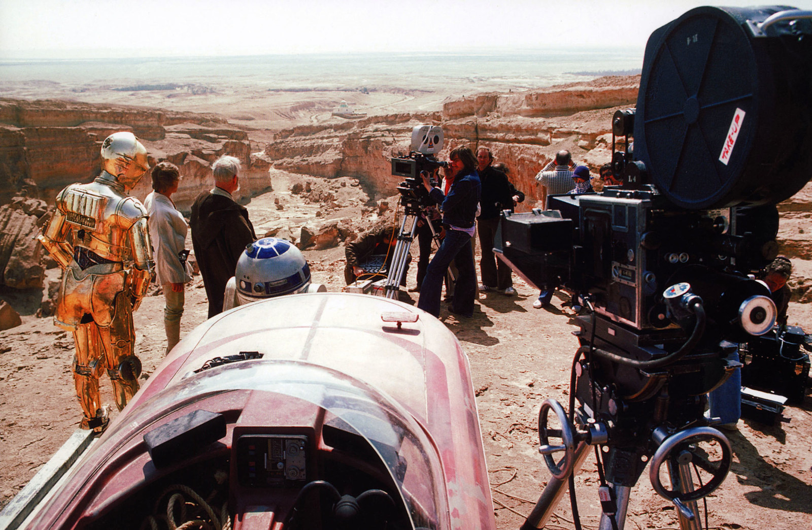 Fotos dos bastidores de Star Wars 1977