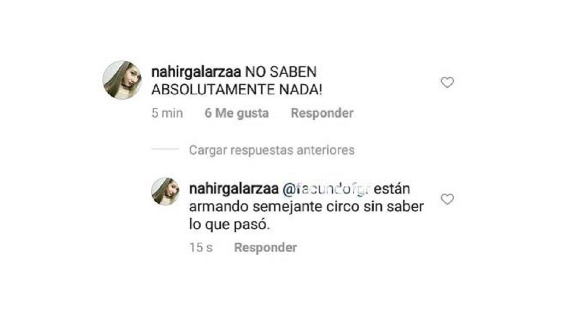 "Nahir Galarza: ""Fue un accidente"""